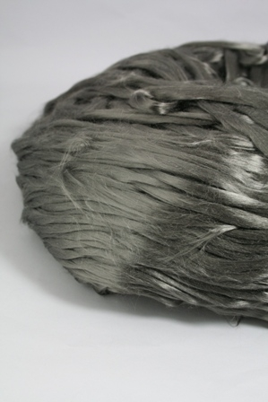 A sliver of stainless steel fibers