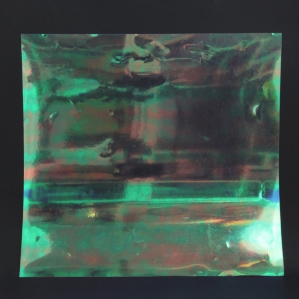 Iridescent Sheet with Oily Film