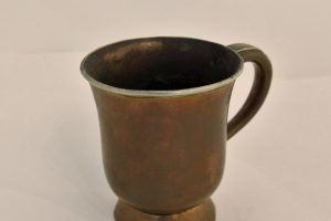 Copper Cup with Tin Rim